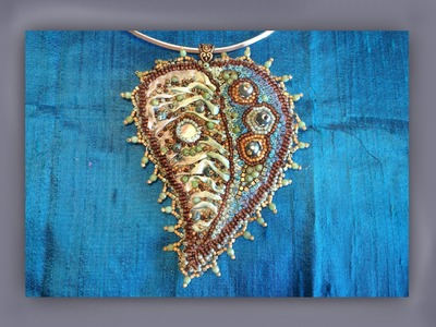 How to make a beaded silk leaf pendant