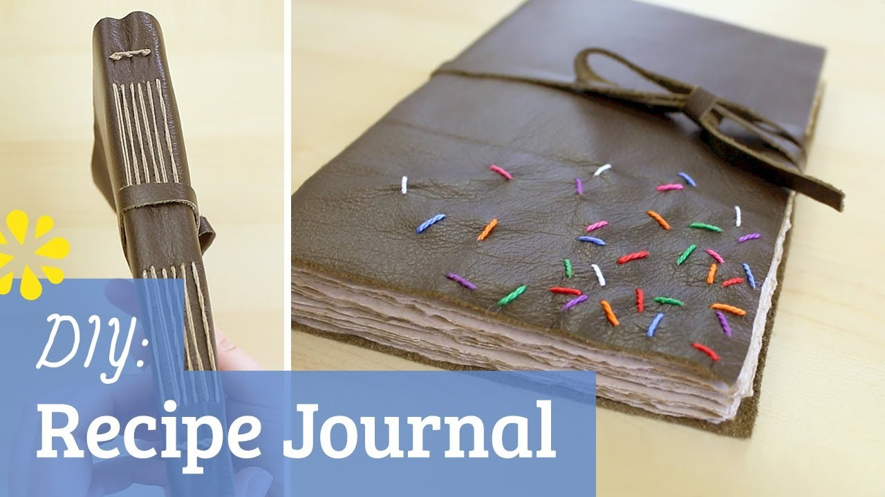 How to Make a Book: Leather Recipe Journal
