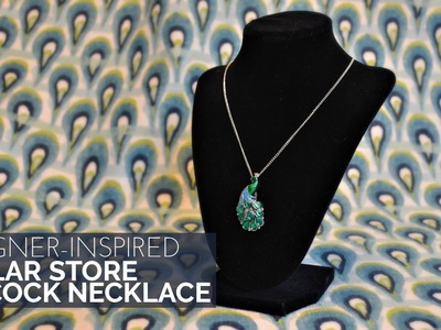 How to Make a Designer Inspired Dollar Store Peacock Necklace