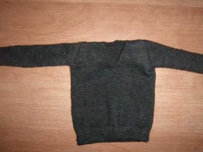 HOW TO MAKE a sweater for Ken doll : My outfits 23