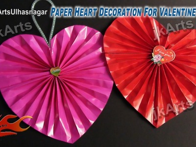 HOW TO: Make Paper Heart Decoration for Valentine's Day - JK Arts 476