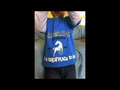 How to restyle a tshirt for your toddler: diy tutorial