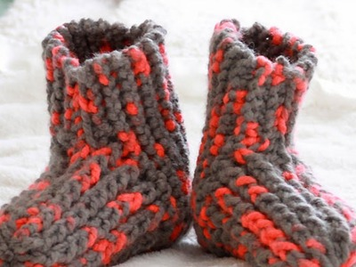Knit Cute and Cozy Slippers - DIY Style - Guidecentral