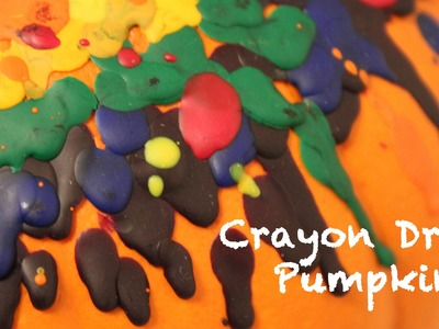 Melted Crayon Pumpkins - Fall Decoration - Whitney Crafts