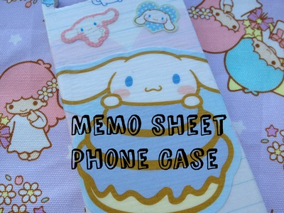 Memo Sheet Phone Case Tutorial ❤ DIY Cute Phone Case