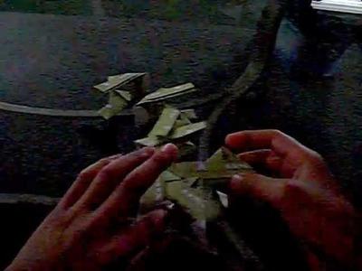 Modular dollar bill origami wheel
