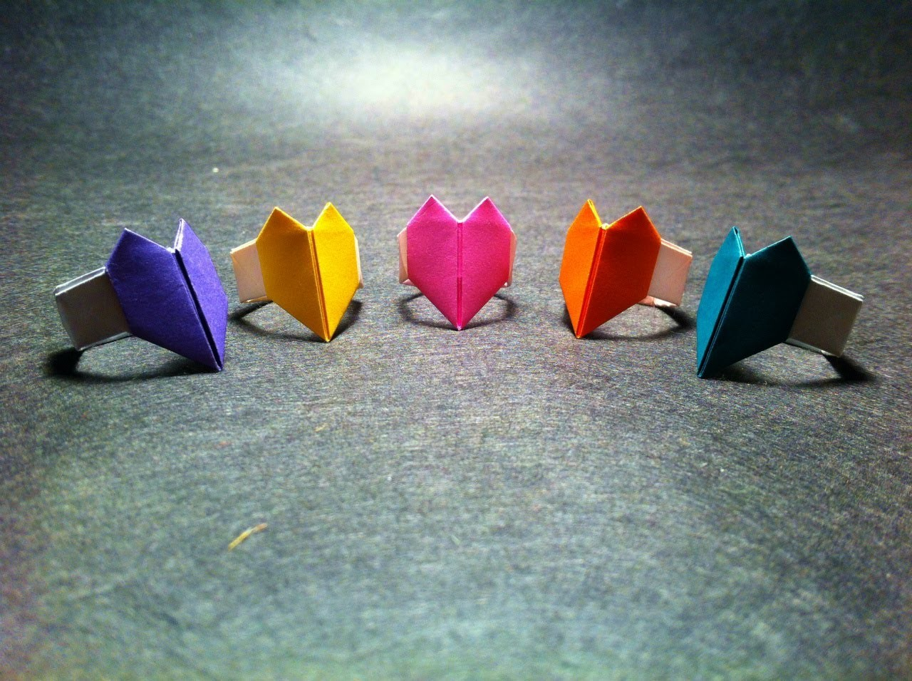 Origami Heart Ring - photo#16
