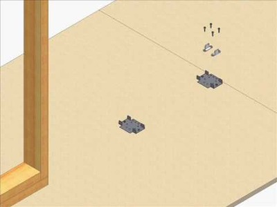 Pocket door kits are easy to install