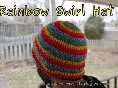 Rainbow Swirl Hat Crochet Tutorial