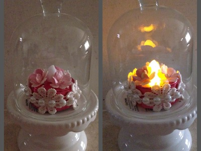 Shabby Chic Projects-Altered Tea Light and Ornament