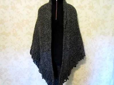 Shawl - Knit with Lion Brand Homespun Yarn, Edwardian