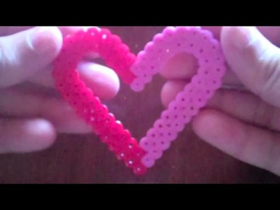 Valentines Day perler bead Heart frame 2
