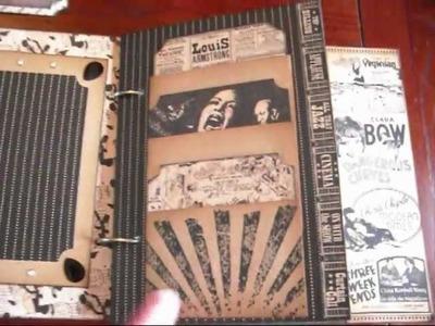 VINTAGE GRAPHIC 45 8x8 MINI SCRAPBOOK ALBUM - CURTAIN CALL