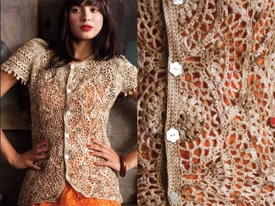 #15 Scallop Stitch Cardi, Vogue Knitting Crochet 2013 Special Collector's Issue