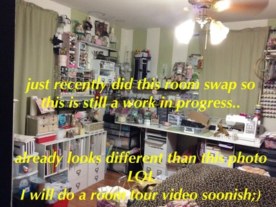 2015 Small Space Craft Room Tour!     Craftroom.Bedroom