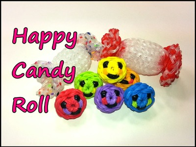 3-D Happy Candy Roll Tutorial by feelinspiffy (Rainbow Loom)