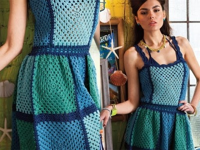 #6 Granny Block Dress, Vogue Knitting Crochet 2013 Special Collector's Issue