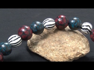 Art Lesson : How To Create Beads With Polymer Clay