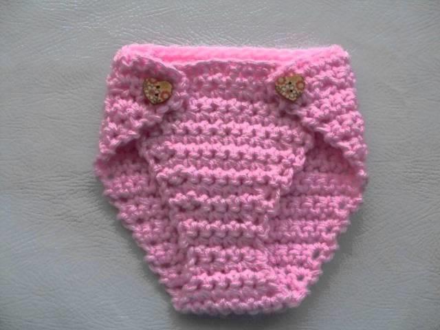 Baby Crochet Pattern Set Beanie Hat and Diaper DIY