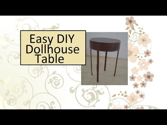 Barbie Table and Chairs: DIY Table Tutorial