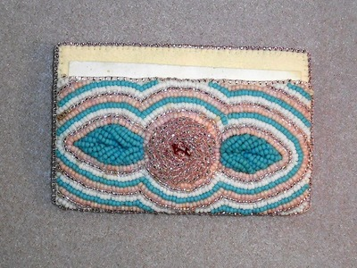 Bead Embroidered Card Case
