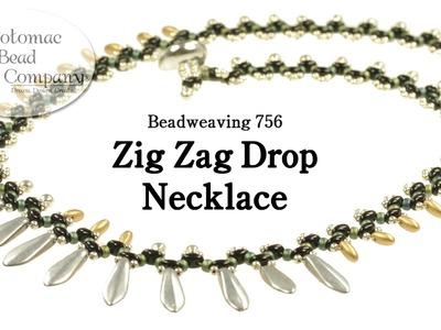 Beadweaving 756 -  Zig Zag Drop Necklace