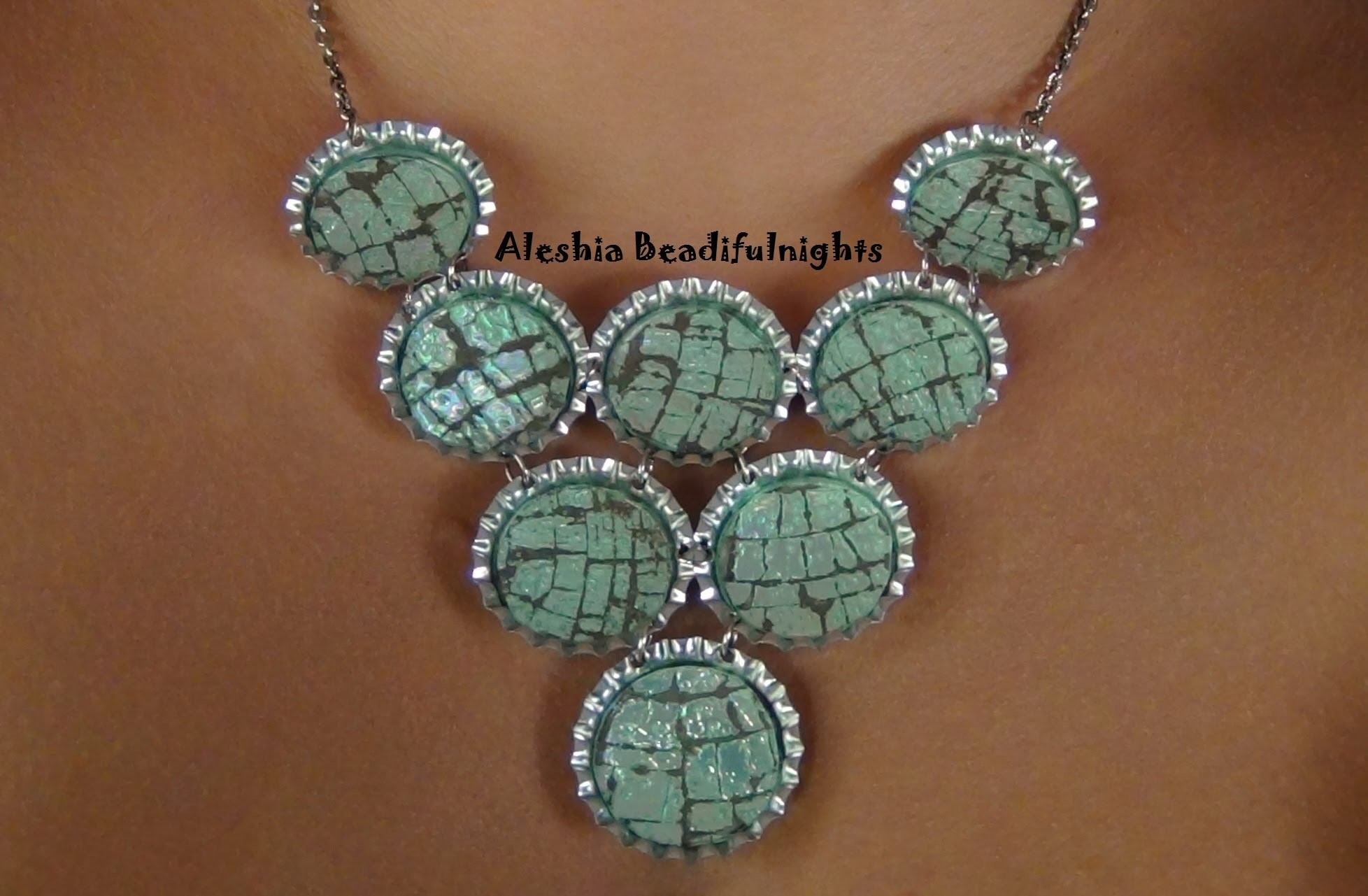 CD Bottle Cap Necklace Recycled Jewelry Tutorial