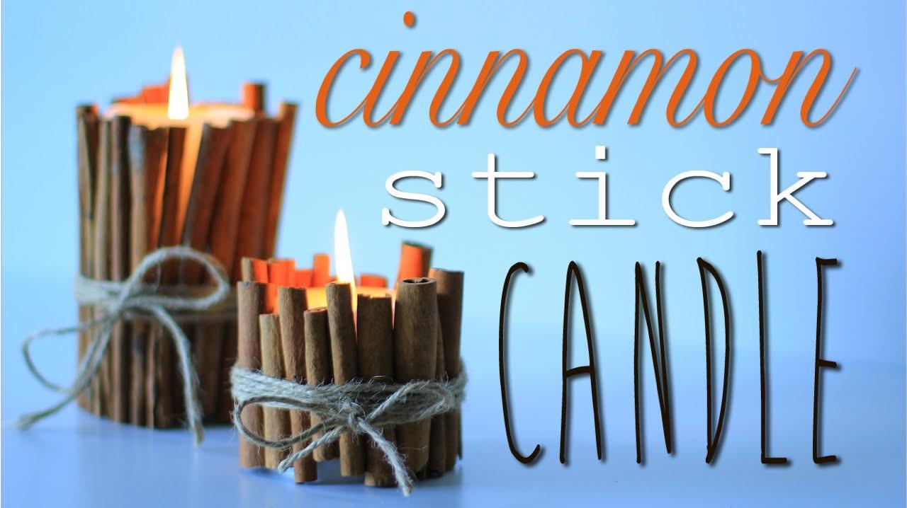Cinnamon Stick Candle - 7th DIY of Christmas
