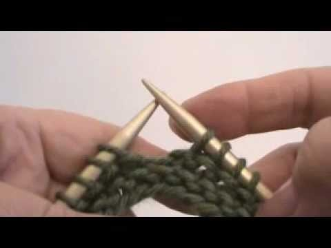 Continental Knitting Lesson #23 - GARTER STITCH