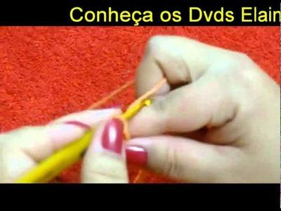 CROCHE PARA CANHOTOS - LEFT HANDED CROCHET - CORRENTINHA
