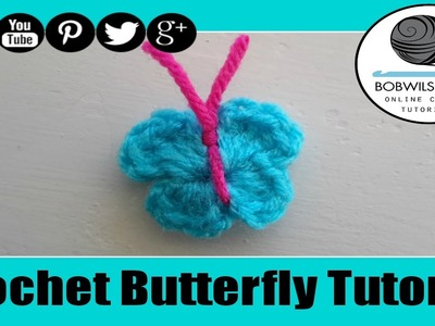 Crochet Butterfly Tutorial - Whip it up Wednesday !
