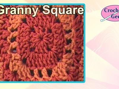 Crochet SunRise Granny Square Crochet Geek