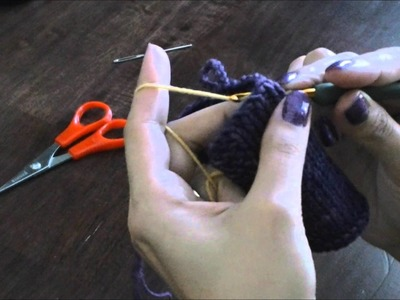 Crocheted Button Loop for Knits