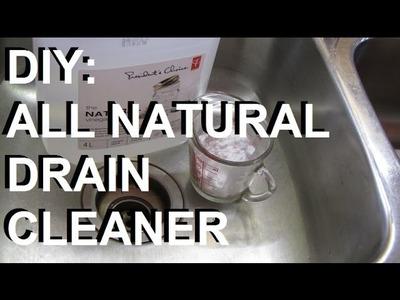 DIY: 2 Ingredient Non-toxic Drain Cleaner