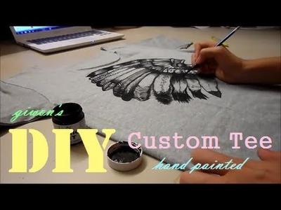 DIY Custom Tee Shirt (Hand Painted) | Giwon