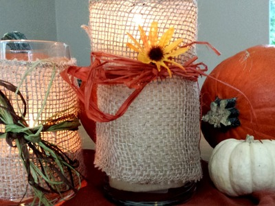 DIY: Easy & Inexpensive Decorated Candle Holders! (Thanksgiving)