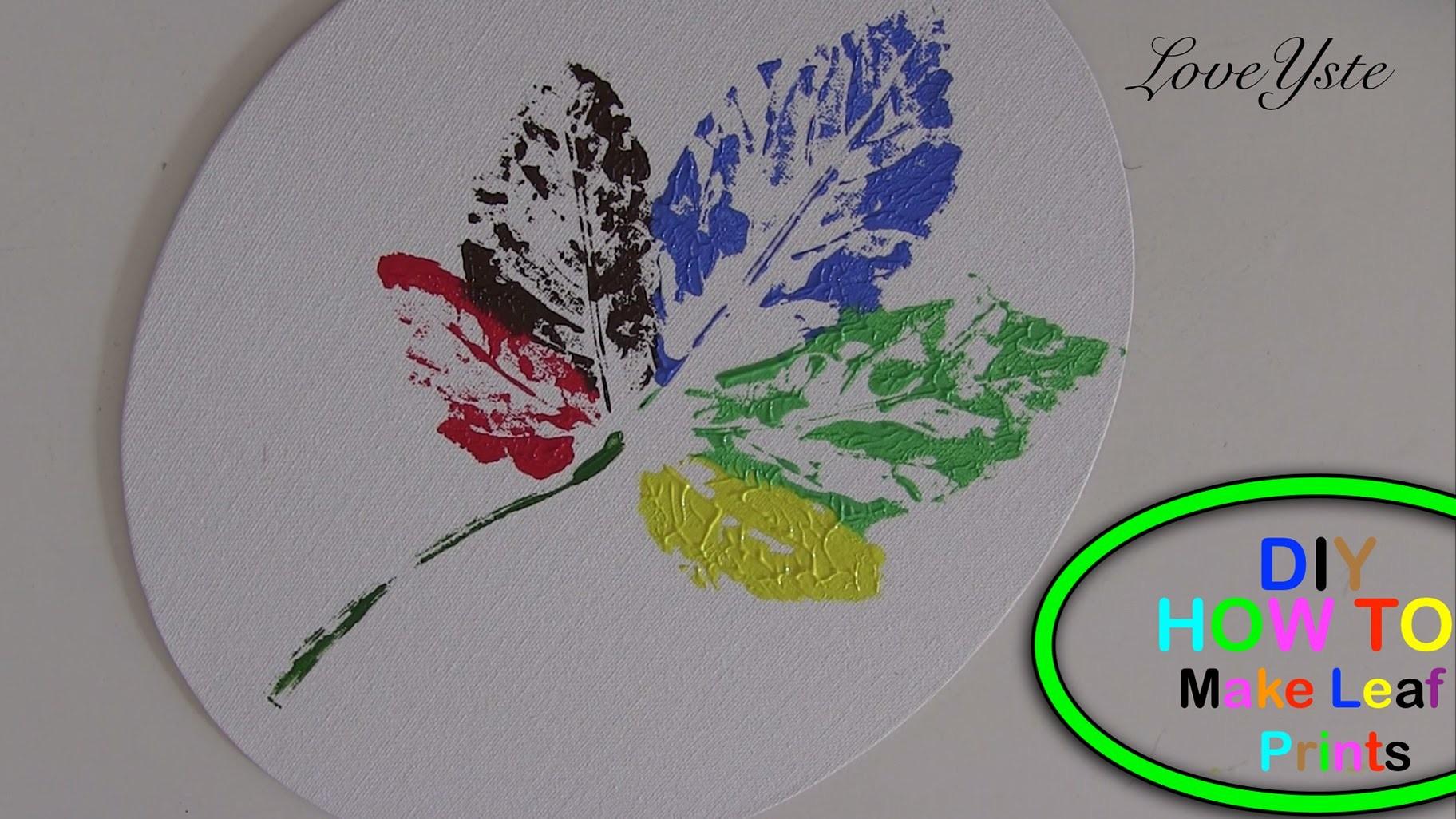 DIY - How To Make a Leaf Canvas Print (Easy Tutorial)