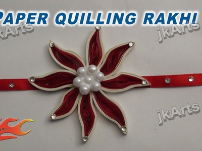 DIY How to make Paper Quilling rakhi for Raksha Bandhan -  JK Arts 260