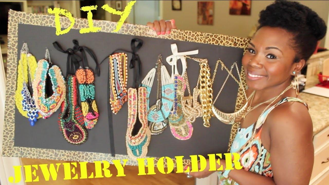 DIY Jewelry Holder || How I Stash My Jewelry (Avoid Tangled Jewelry Under 5$)