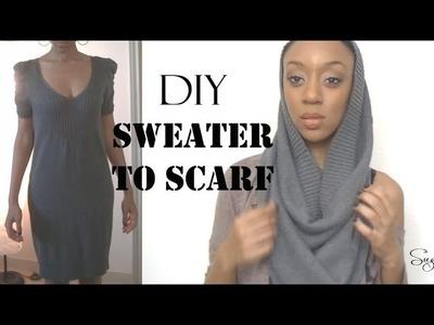 DIY *No Sew* Sweater to Infinity Scarf - SugarStilettosStyle
