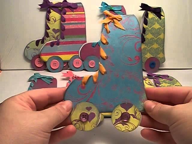 DIY Roller skate birthday party invitations