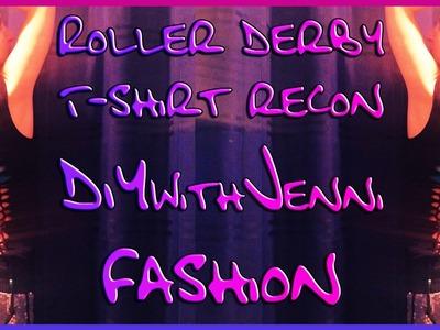 DIY T-shirt cutting Tutorial (no sew) Roller Derby team shirt