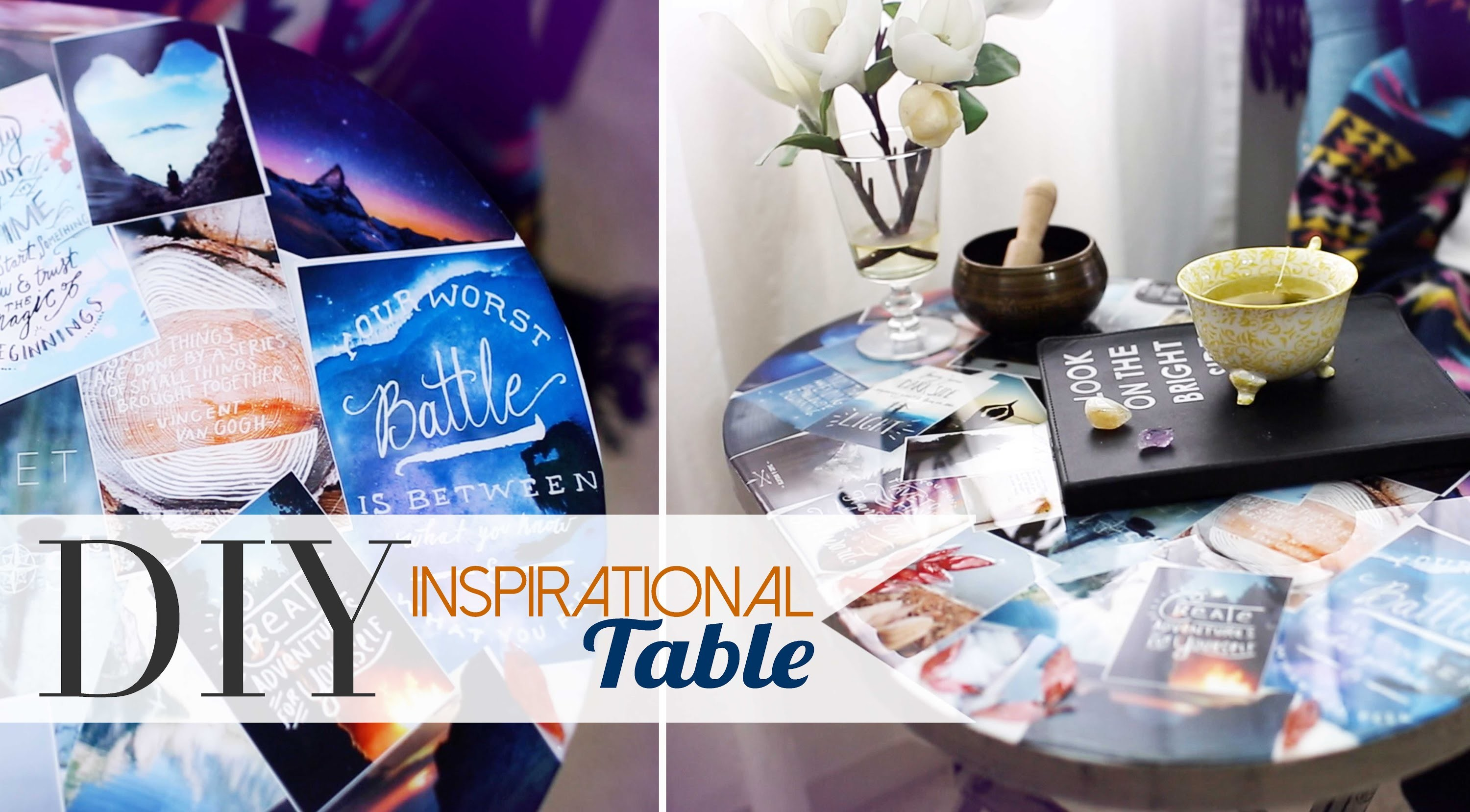 DIY Tumblr Pinterest Collage Table | Home Decor | ANNEORSHINE