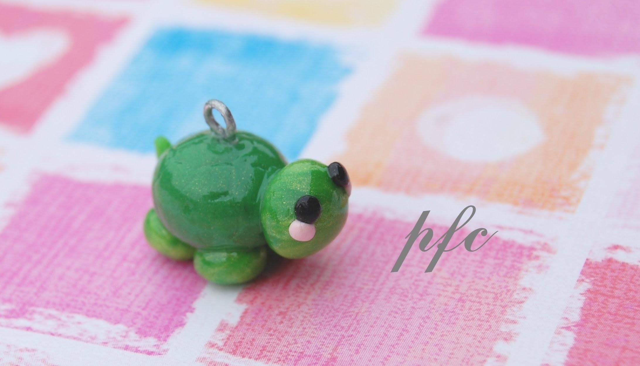 DIY Turtle Polymer Clay Charm Tutorial