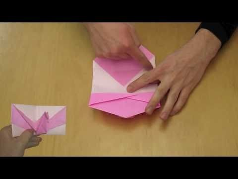 "Easy Origami ""Pop Up"" Bird Card Instructions"