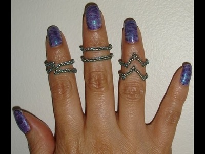 Fingertip Rings Above Knuckle, handmade jewelry by Mariel.