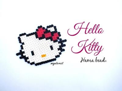 HAZ A HELLO KITTY CON PERLER BEADS (HAMA BEADS)