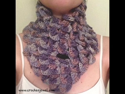 How to Crochet a Crocodile Stitch Neck Warmer Part I