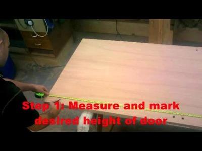 How to cut a timber door