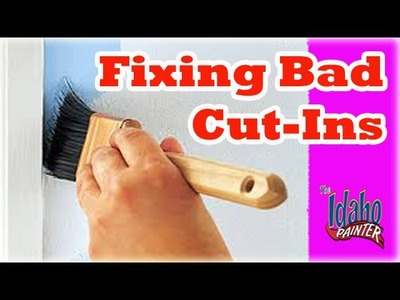 How to fix bad cut-in lines.  More interior painting tips.